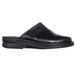 Clark's Black Stitched Leather Slide Mules Clogs